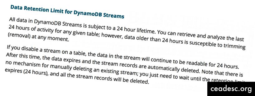 Source: Utilisation des flux DynamoDB