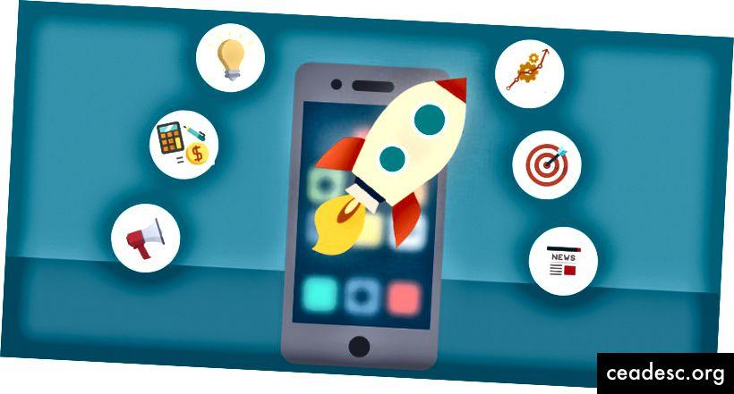 Image 1: Image abstraite des icônes de lancement des applications mobiles