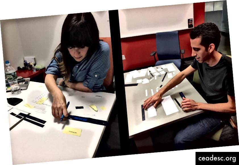 Koledzy bawią się przeprojektowując Crashlytics z wycięciami z papieru