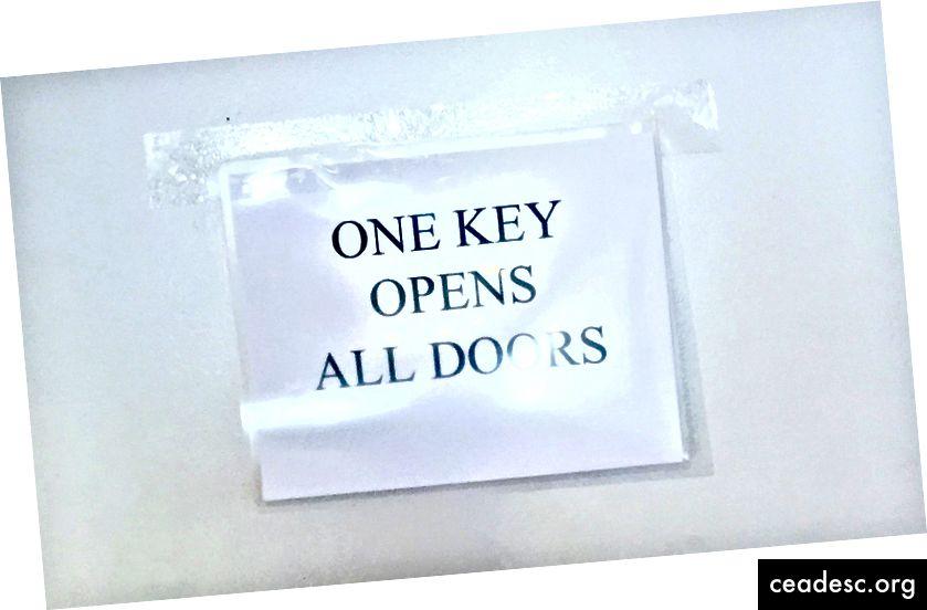 Questo è stato un segno casuale che ho visto in un edificio per uffici, ma mi ha fermato morto nelle mie tracce. Filosofia accidentale, proprio lì.