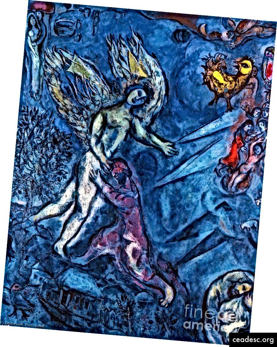 Marc Chagall, Jacob luttant avec l'ange