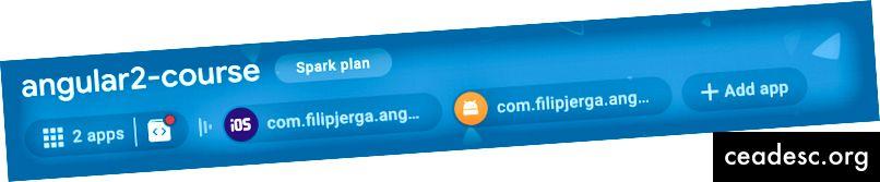 Създадени са както приложения за iOS, така и Angular.