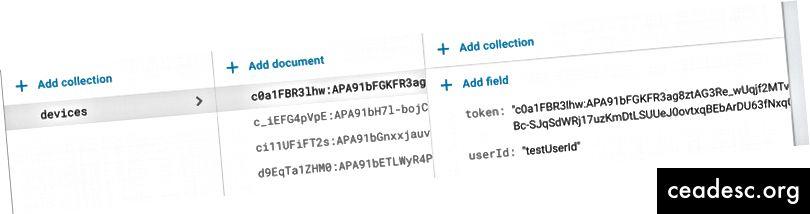Firebase база данни колекция, Ще видите само един документ
