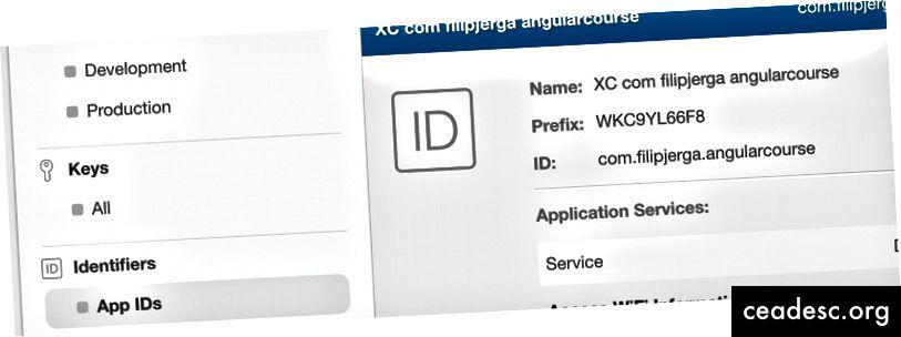 Качете p8 файл и вземете префикс за keyID и ID