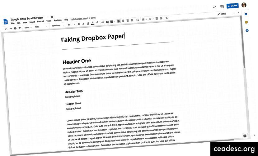 Създаването на голяма страница е най-близкото, до което можете да стигнете до безкрайното усещане за платно на хартия