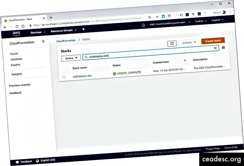 Notre pile CloudFormation créée par le framework sans serveur
