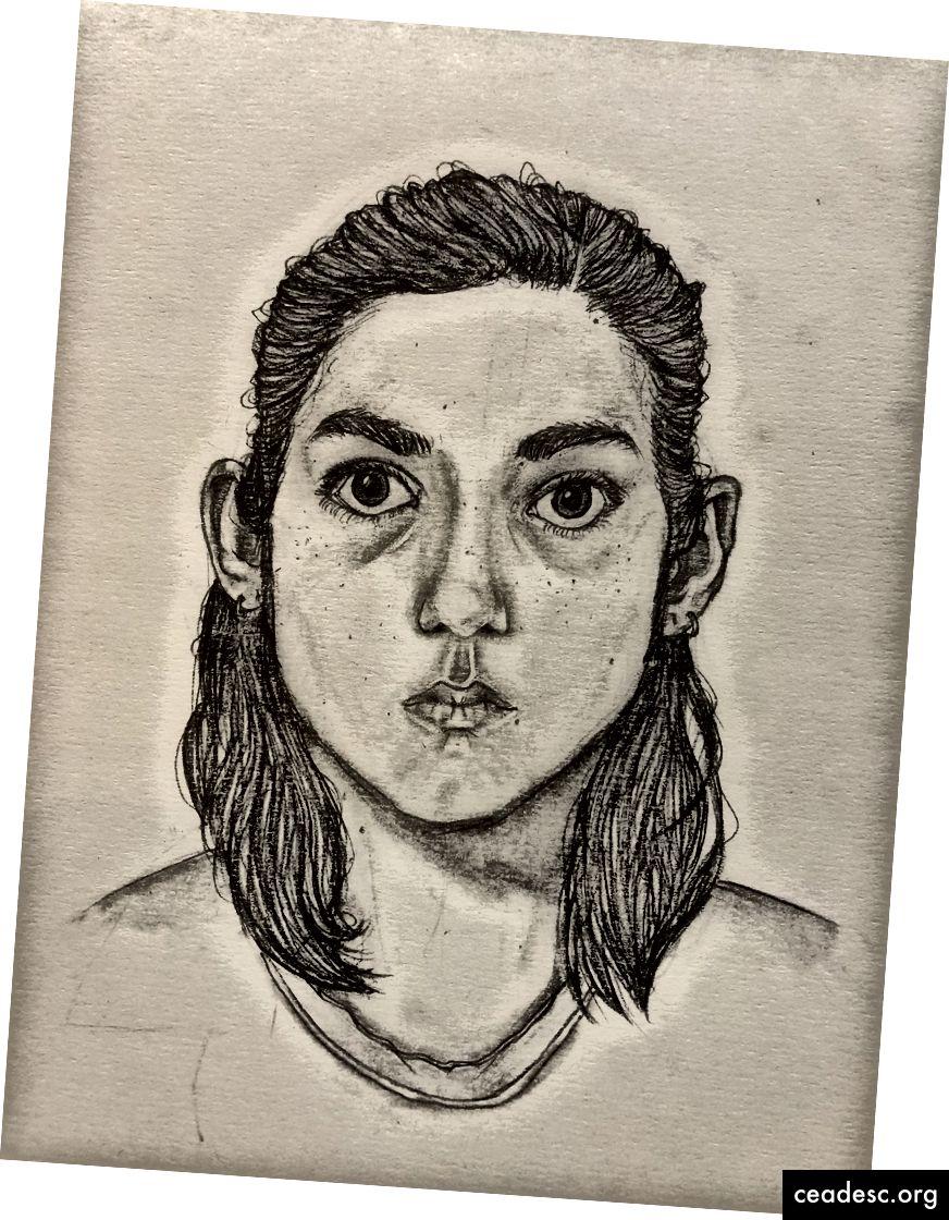 Rubiin, autoportree, vanus 14, jaanuar 2019