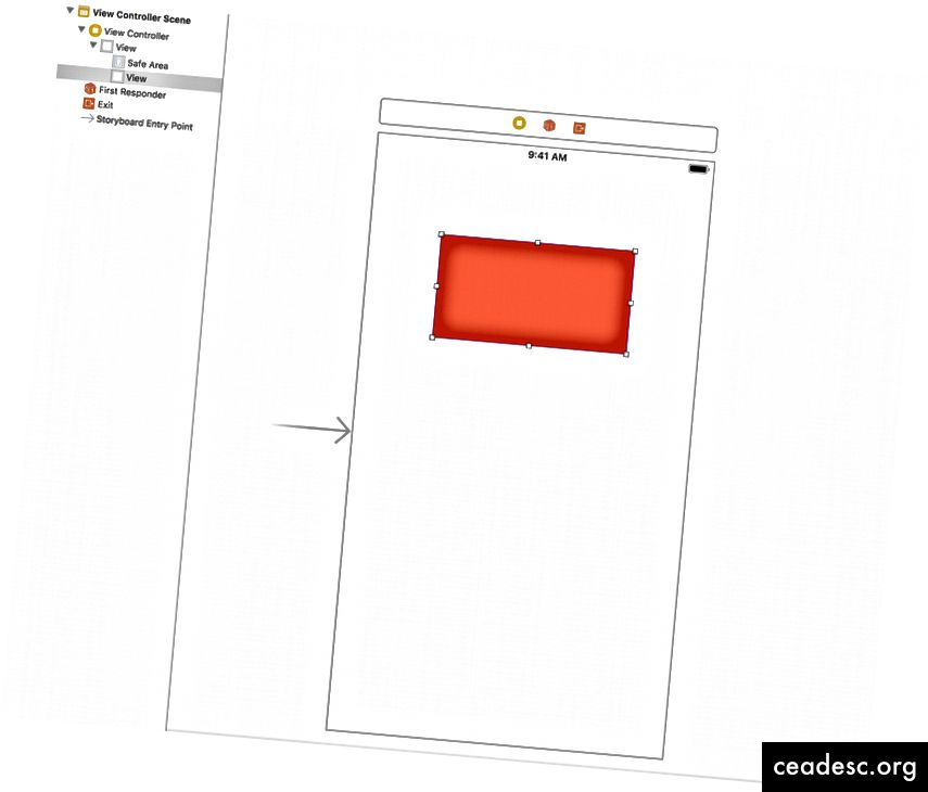 Sottoview aggiunta come vista secondaria dell'UIView predefinita