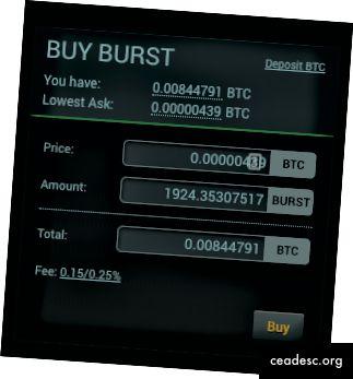 Poloniex BTC -> BURST