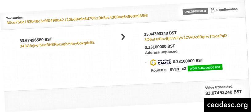 Kontrollige oma panust BlockStamp Exploreris!