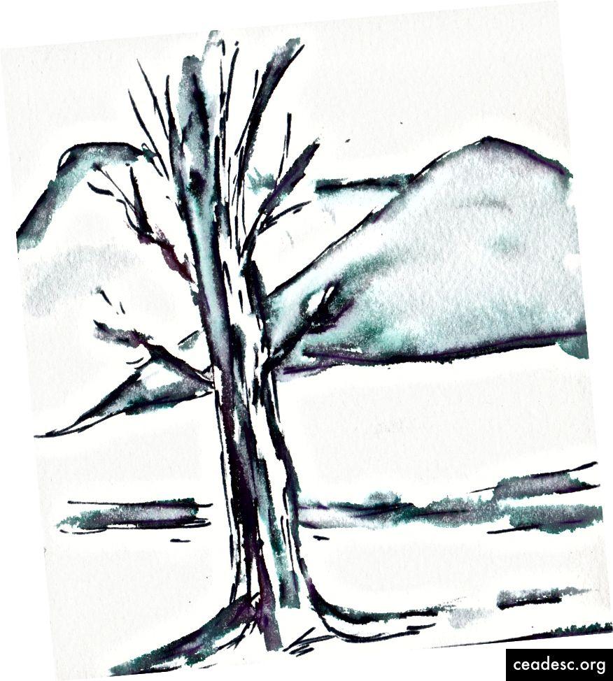 Talvine stseen musta Elegantwriter pastakaga.