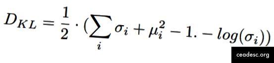 KL-Divergence de la distribution gaussienne