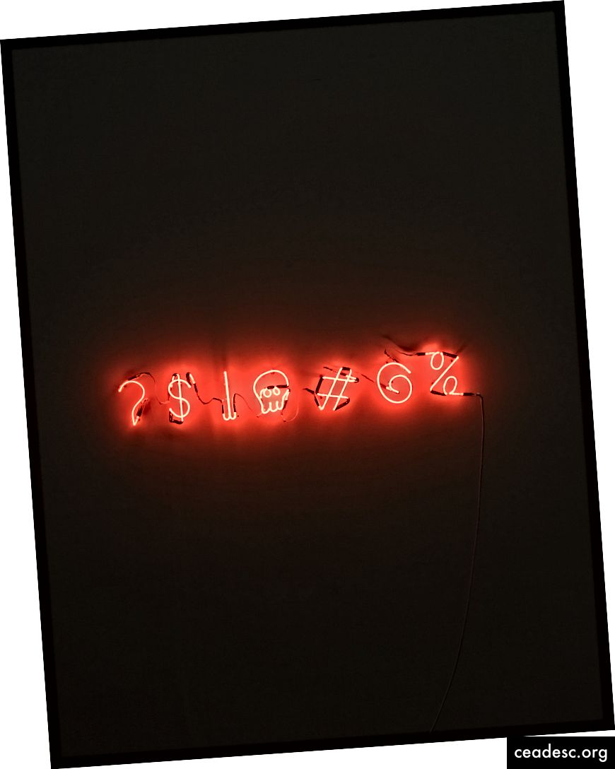 """Matthew Brodeuri """"punased LED-märgistused"""" saidil Unsplash"""