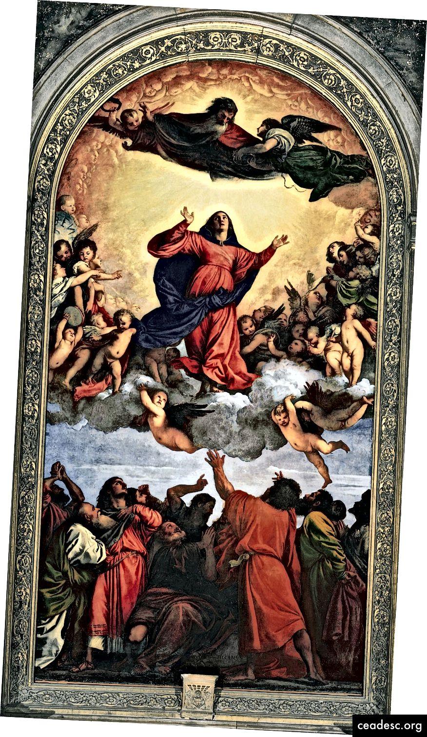 «Assomption de la Vierge» de Titian, 1516-1518, via Wikimedia Commons