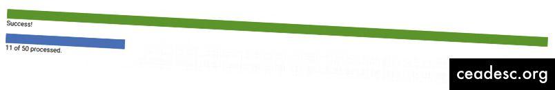 অগ্রগতি বারগুলি কোনও কিছুর স্থিতি এবং এর ফলাফল প্রদর্শন করতে ব্যবহৃত হতে পারে