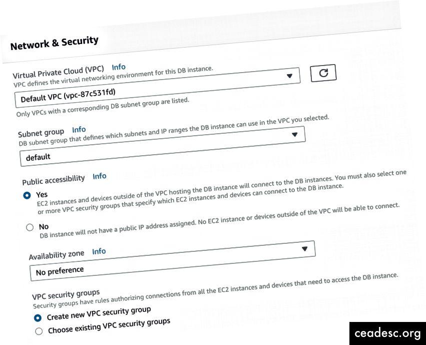 Paso 4: red y seguridad