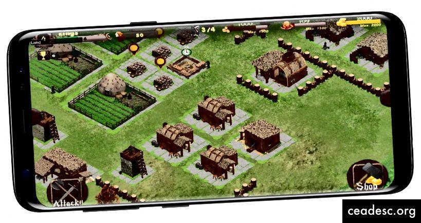 Android-mängude ekraanipilt