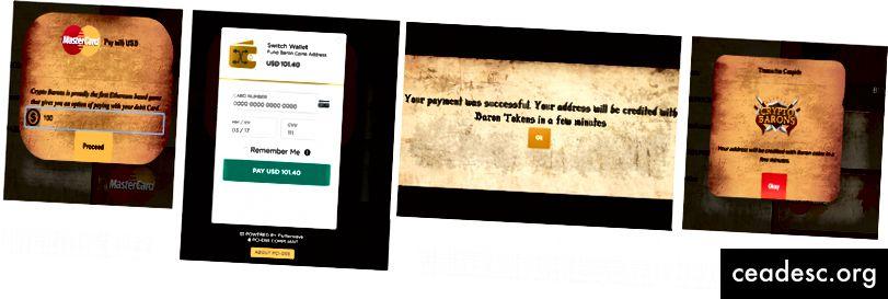 Kaardimakseprotsessi ekraanipilt