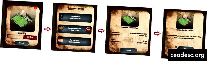 Makseprotsessi ekraanipilt