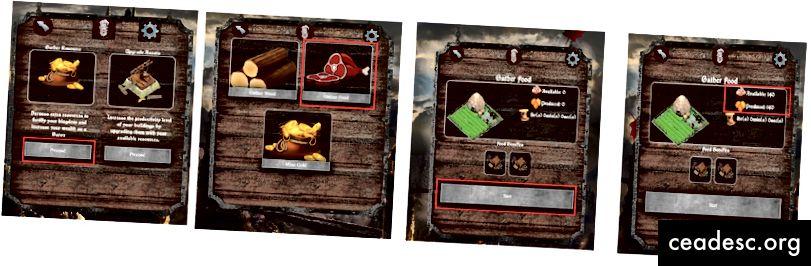 Gameplay - Sammeln von Lebensmitteln