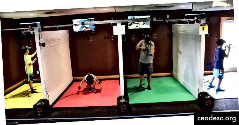 Magus foto meie VR arkaadist tegevuses.
