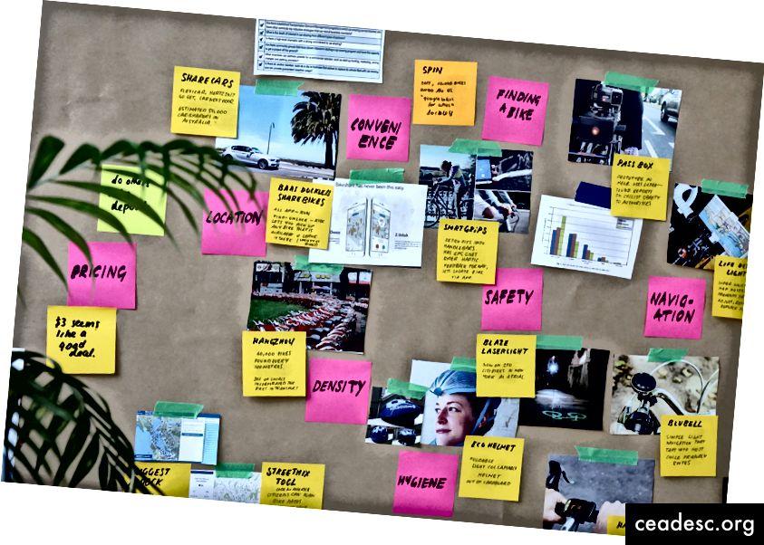 Voici un exemple de la manière dont un concepteur UX va commencer à représenter visuellement l'utilisateur dans le contexte du problème que nous essayons de résoudre. Il montre comment nous cartographions les questions que nous posons pour déterminer et concevoir les scénarios utilisateur, les parcours utilisateur et les user stories.