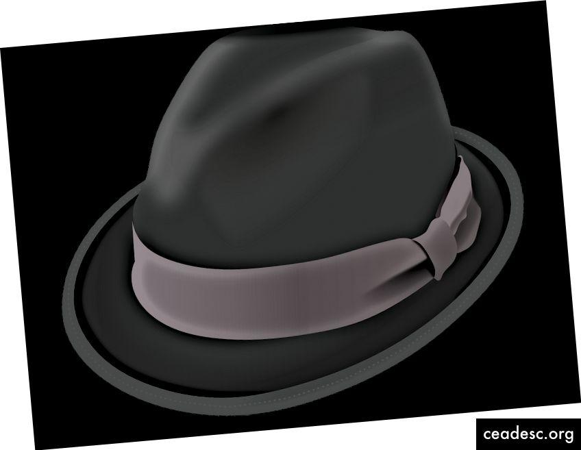 Bəzən Black Hat Dünya Forumuna baxın, ancaq orada diqqətli olun. Şəkil mənbəyi: https://pixabay.com/vectors/hat-trilby-black-brim-crease-felt-157581/