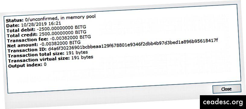 collateralHash = ID de transacción. Debe ser exactamente 2500 BITG.