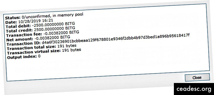 collateralHash = ID Transaksi. Harus tepat 2500 BITG.