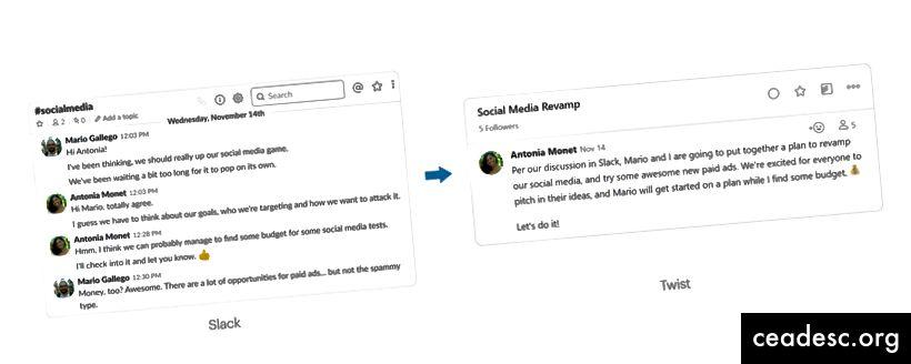 Ärge jätke lööki vahele ja jätkake oma Slacki sotsiaalmeedia planeerimise sessiooni Twistis.