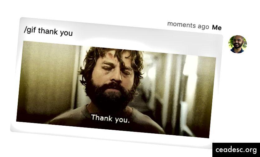 """Öelge gifiga tänu, kirjutades """"/ gif aitäh""""."""