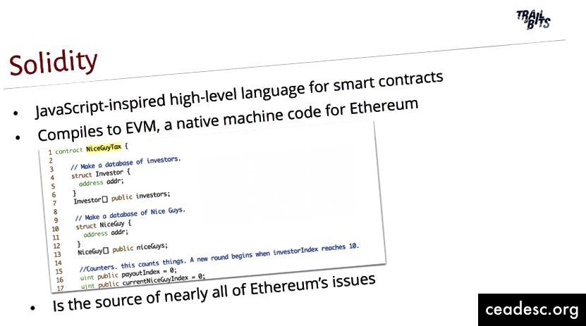 Bits's Blackhat Ethereumi esitluse jälg