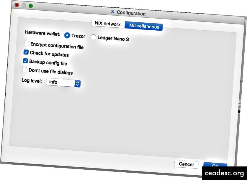اختيار Trezor لمحفظة الأجهزة المستخدمة