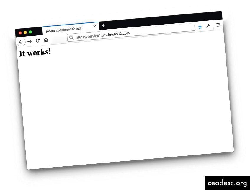 Página predeterminada del servidor web HTTP