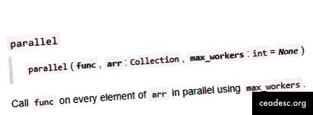 Допълнителна документация в бележника за fastai.core.parallel