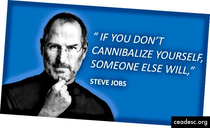 """Стив Джобс: """"Ако не можете да канибализирате себе си, някой друг ще го направи"""""""