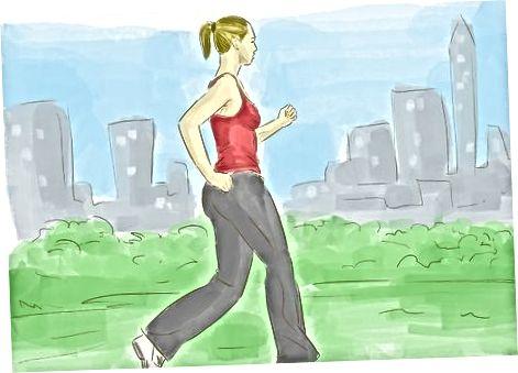 Methode 2: uw longen versterken met lichaamsbeweging