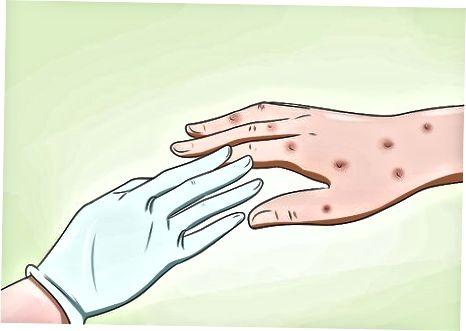 Protegendo-se em torno de uma pessoa infectada