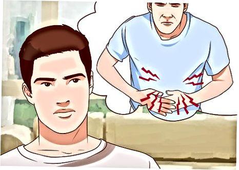 Een maagklachten kalmeren als gevolg van angst