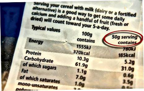 Encontre a densidade de calorias dos alimentos
