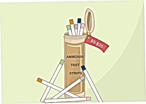 امونیا ٹیسٹ سٹرپس کا استعمال