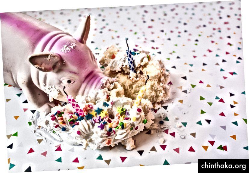 Ein unglückliches Beispiel für den seltenen Schweinchen-im-Cupcake-Fehler. (Bild von Ryan McGuire)