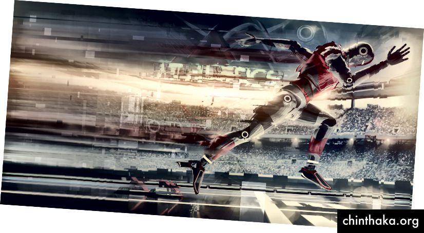 Роботизиран бегач, започващ спринт