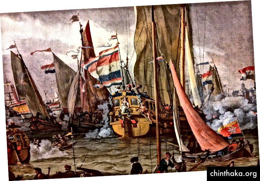 لقد بنى العلم الروسي على العلم الهولندي