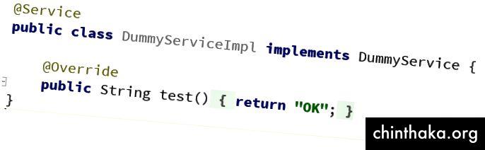 Service Implementierung (ohne Feder)