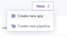 Erstelle eine neue App auf Heroku