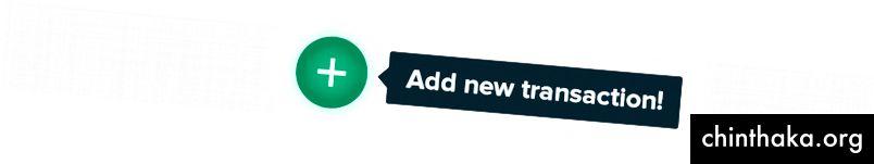 Et plustegn for at tilføje en kontant transaktion til din tegnebog.