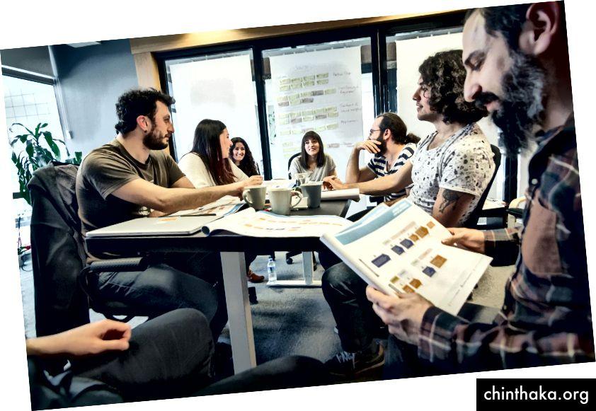 Foto fra JotForm UX Team Meeting - Oprindeligt offentliggjort på JOTFORM.COM