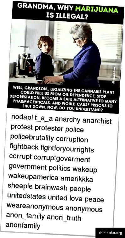 """Beitrag vom russischen Troll Instagram-Konto Anonymous_News; Beachten Sie die gestörte Wortreihenfolge in der Frage und die Hinzufügung weiterer hoch aufgeladener Begriffe im Text wie """"NoDAPL"""" (ein Verweis auf die umstrittene Dakota Access Pipeline), """"Policebrutality"""" und """"amerikkka"""" (ein Verweis auf die Ku Klux Klan. Bild von @UsHadrons wiederhergestellt. (Quelle: Instagram / Anonymous_News)"""