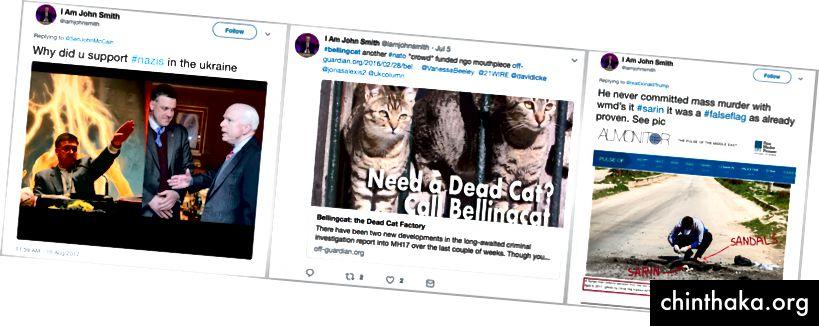 Tweets von @iamjohnsmith zu Ukraine, Bellingcat und sarin. Tweets archiviert am 20. Dezember 2017. (Quelle für Beiträge: Twitter / @iamjohnsmith)